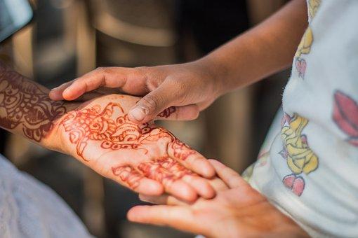 Hands, Henna, Tattoo, India, Tradition, Decoration