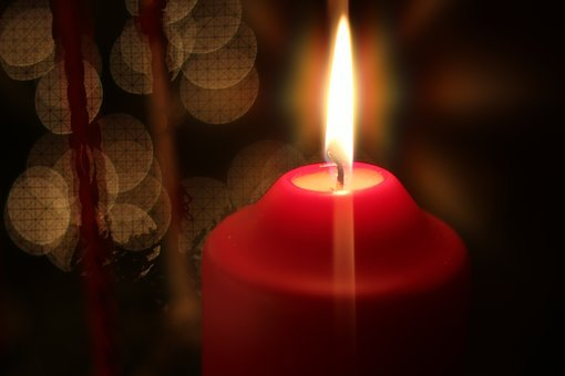 Xmas, Candle, Red, Light, Christmas, Celebration