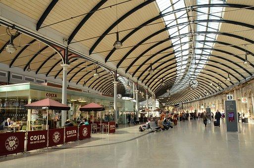 Station, Train, Dome, Arc, Light, Modern, Architecture