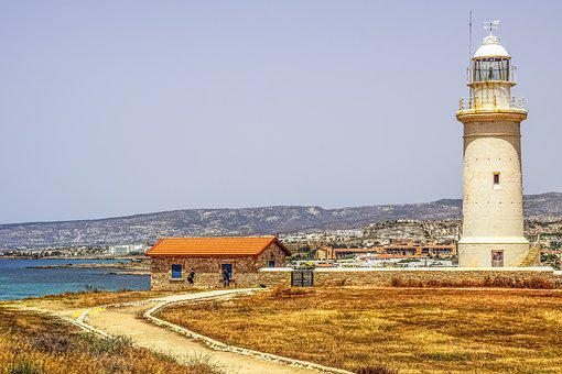 Lighthouse, View, Sea, Path, Landscape, Mediterranean