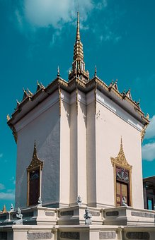 Cambodia, Phnom Penh, Palace, Road