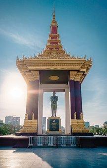 Cambodia, Phnom Penh, Independence Square, Travel