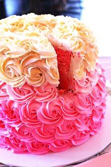 Baby Shower, Cake, Pink, Girl, Baby, Shower, Food