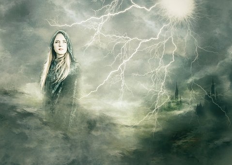 Goddess, Composite, Lightening, Separated By Comma
