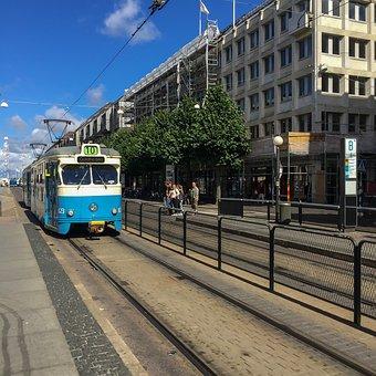 Tram, Gothenburg, Track, Big City, Small Boom