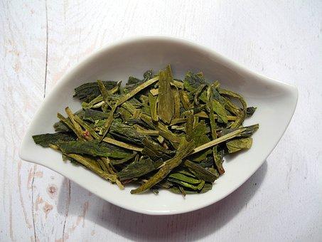 Tea Leaves, Tea, Green Tea, Dried Leaves, Dried, Food