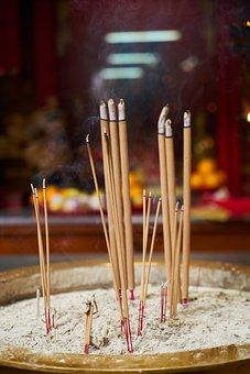 Incense, Religion, Worship, Prayer, Buddhism, Temple