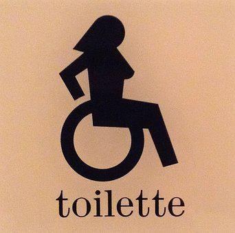 Wheelchair, Woman, Inclusion, Toilet, Gender, Equality