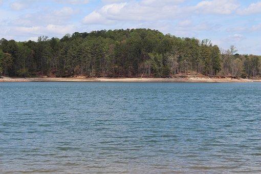 Lake Lanier, Georgia, Ga, Forsyth, Water, Island, Trees