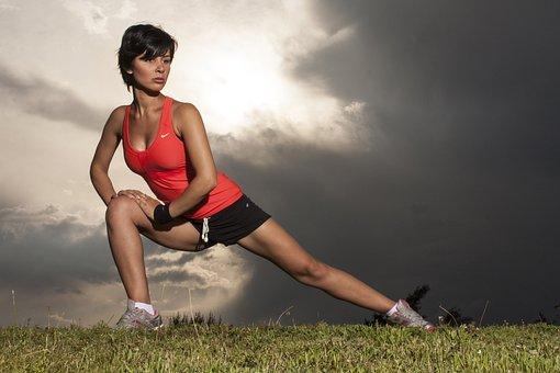Women's, Sports, Leg, Exercise, Yawn, Move, Model, Girl