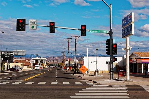 Carson City, Nevada, Usa, America, Road