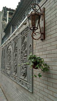 Ancient Architecture, Wall Sconce, Brick Wall