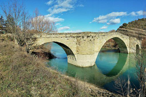 Bridge, Medieval, River, Esera, Medieval Architecture