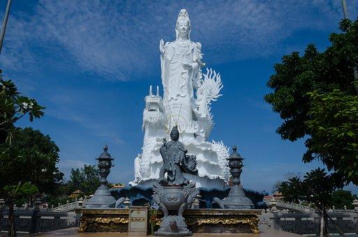 Buddha, Goddess, Statue, Architecture, Religion
