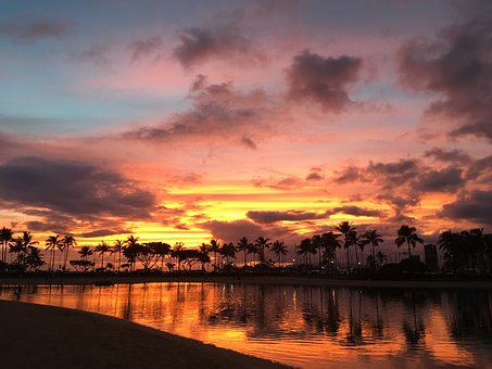 Hawaii, Sunset, Cloud, Beach, Vacation, Travel