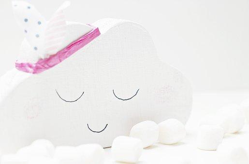 Cloud, Marshmallows, White, Cloud 7, Wood Cloud, Deco