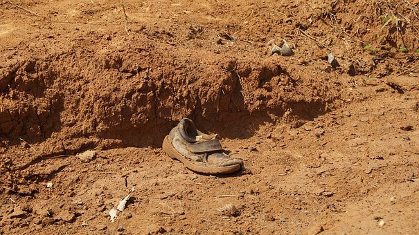 Shoe, Red Earth, Nature, Old, Earth