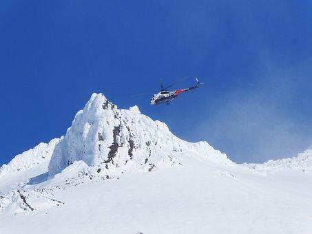 Helicopter, Landing, Mountains, Vortex, Winter, Snow