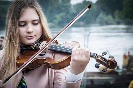 Music, Violin, Play Violin, Girl Violin