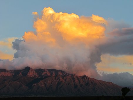 New Mexico Sky, Sandias, Clouds, Mountains, Landscape