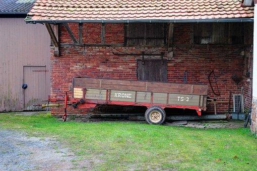 Manure Spreader, Crown, Farm, Old, Agriculture