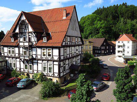 Home, Resin, Truss, Architecture, Facade, Old Town