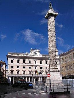 Mark-aurel-pillar, Piazza Colonna, Marcus Pillar, Rome