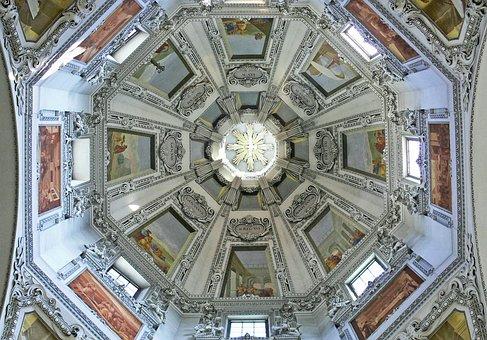 Salzburg, Dom, Dome, Sanctuary, Jewelry Vault, Stucco