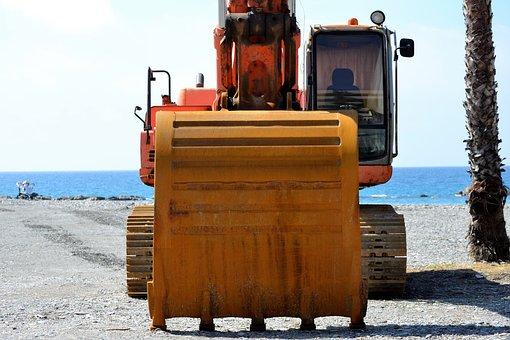 Excavator, Machine, Works, Construction, Shovel