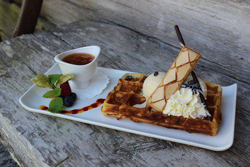 Waffle, Chalet, Cloudberry