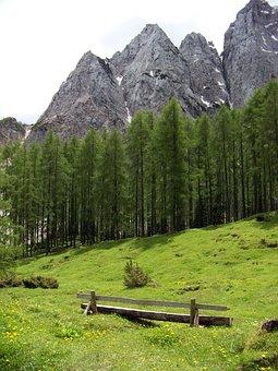 Lost Places, Wooden Bench, Alpine Hiking, Karawanken