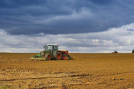 Tractor, Field, Landscape, Agriculture, Arable, Summer
