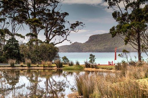 Australia, Brunie Island, Tasmania, Sea, Beach