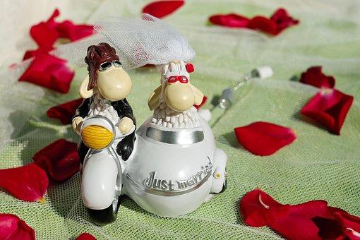 Wedding, Bride And Groom, Figure, Bride, Groom