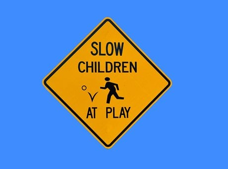 Children At Play, Sign, Signage, Warning