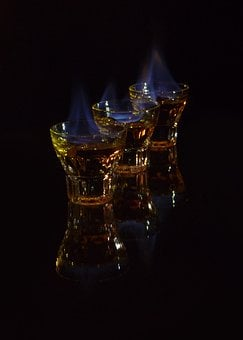 Schnaps, Firewater, Flaming Shot, Alcohol, Fire, Flame