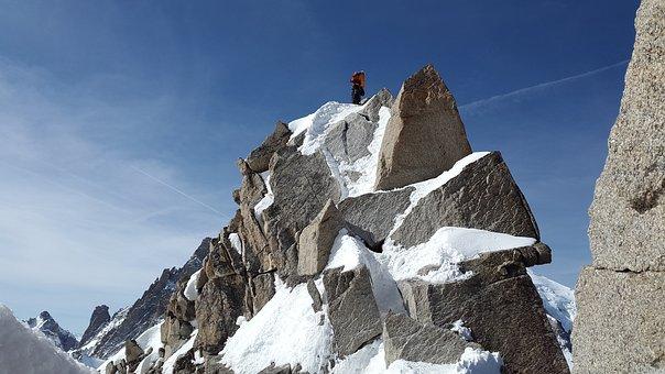 Cosmiques Ridge, Granite, Summit, Ridge, Rock
