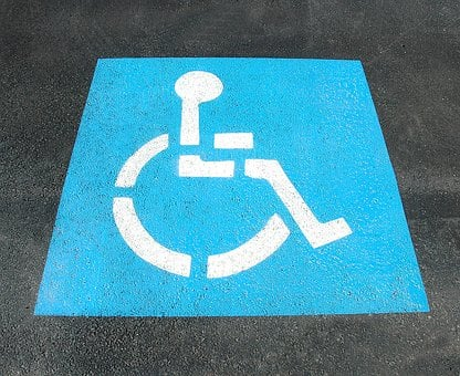 Handicap Parking, Sign, Painted, Street, Disable