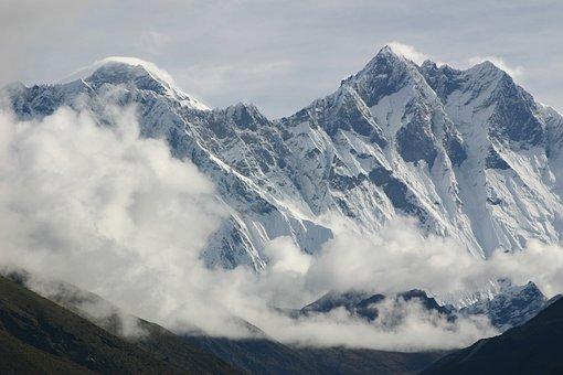 Everest, Lhotse, Himalaya, Mountains, Clouds, Nepal