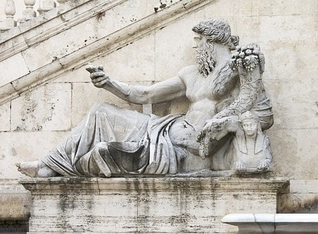 The Nile, Statue, Rome, Michelangelo, Italy