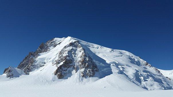Mont Blanc Du Tacul, High Mountains, Triangle Du Tacul