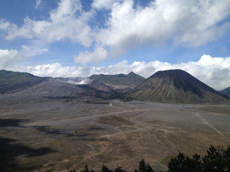 Bromo, Indonesia, Natural Spectacle, Cloud Of Smoke