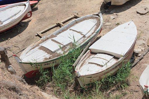 Boat, Sea, Grass, Ocean, Sand, Transport, Vacation