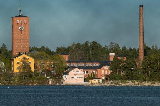 Finnish, Littoinen, Littoisten Lake, Lake, Factory, Old