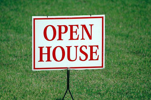 Open House, Sign, For Sale, Real Estate, House, Open