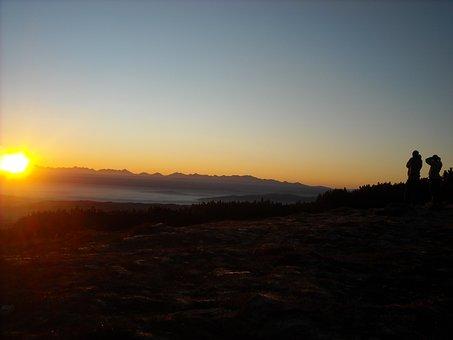 East, Mountains, Pilsko, Morning, The Fog, Beskid