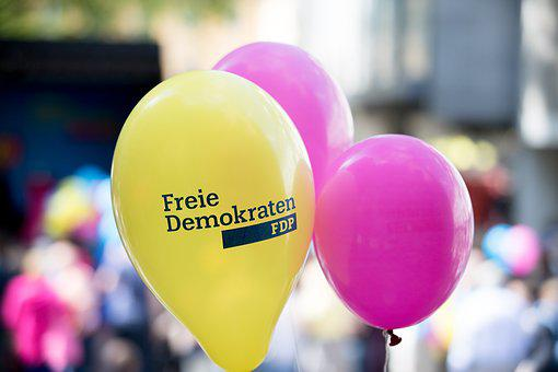 Balloon, Fdp, Yellow, Magenta, Colorful, Policy, Party