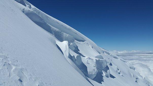 Glacier, Crevasses, Seracs, Glacier Crash, Ice