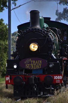 Brisbane, Train, Rail, Railway, Steam, Locomotive