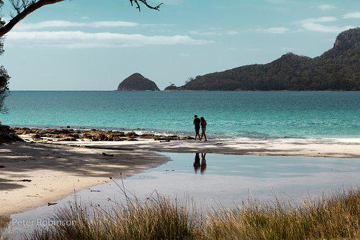 Australia, Tasmania, Brunie Island, Sea Scape